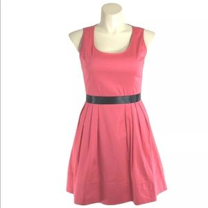 Calvin Klein Dress 12 Coral Peach Black Belt